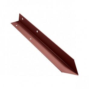 Внутренний угол борта грядки металлической КРОМА (42*42*416) RAL 3009 (красная окись)