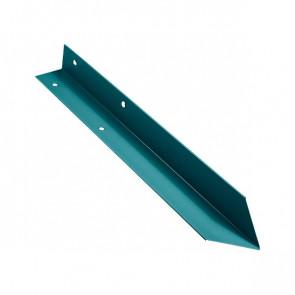 Внутренний угол борта грядки металлической КРОМА (42*42*416) RAL 5021 (водная синь)
