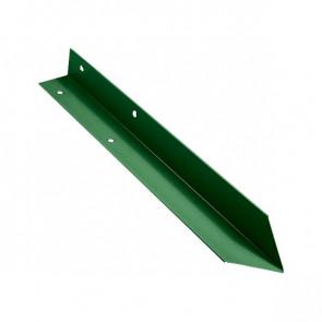 Внутренний угол борта грядки металлической КРОМА (42*42*416) RAL 6002 (лиственно-зеленый)
