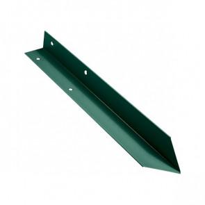 Внутренний угол борта грядки металлической КРОМА (42*42*416) RAL 6005 (зеленый мох)