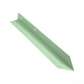 Внутренний угол борта грядки металлической КРОМА (42*42*416) RAL 6019 (бело-зеленый)
