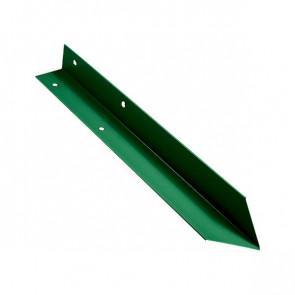 Внутренний угол борта грядки металлической КРОМА (42*42*416) RAL 6029 (мятно-зеленый)