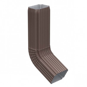 Колено трубы 76*102 (600) «МП Модерн», RAL 8017 (шоколадно-коричневый)