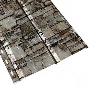 """Софит """"Эльбрус"""" перфорированный в пленке (264/240) 0,5 ECOSTEEL белый камень"""