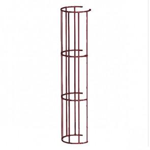 Защитный экран фасадной лестницы H=1200 м/D=800 мм (2-я снизу и последующие секции) RAL 3005 (винно-красный)