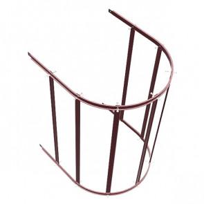 Защитный экран фасадной лестницы H=1200 м/D=800 мм (нижняя секция) RAL 3005 (винно-красный)
