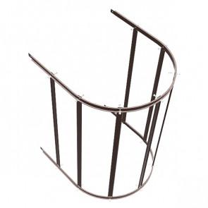 Защитный экран фасадной лестницы H=1200 м/D=800 мм (нижняя секция) RAL 8017 (шоколадно-коричневый)