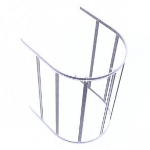 Защитный экран фасадной лестницы H=1200 м/D=800 мм (нижняя секция) ZN (оцинкованная сталь)