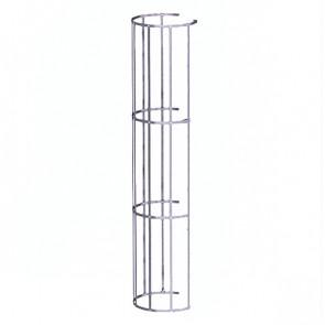 Защитный экран фасадной лестницы H=1200 м/D=800 мм (2-я снизу и последующие секции) ZN (оцинкованная сталь)