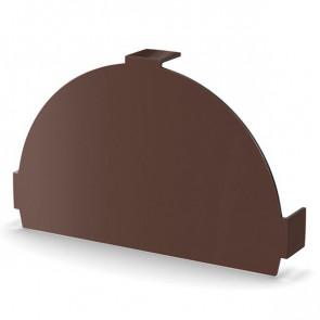 Заглушка конька круглого простая, RAL 8017, порошковая окраска (Фасонка кровля)