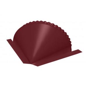 Заглушка конька круглого конусная, RAL 3005, порошковая окраска (Фасонка кровля)