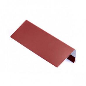 Завершающая планка для металлосайдинга, 1,25 м, полиэстер, RAL 3011 (коричнево-красный)