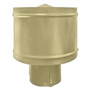Зонт с ветрозащитой (дефлектором) на круглую трубу RAL 1014 (слоновая кость) D=100-500