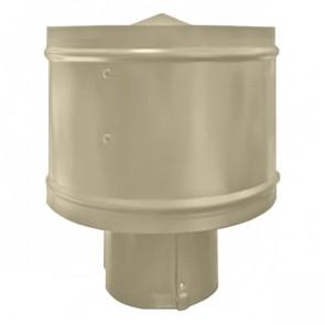 Зонт с ветрозащитой (дефлектором) на круглую трубу RAL 1015 (слоновая кость светлая) D=100-500