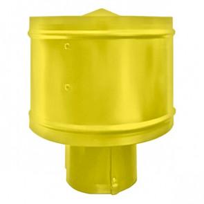 Зонт с ветрозащитой (дефлектором) на круглую трубу RAL 1018 (цинково-желтый) D=100-500