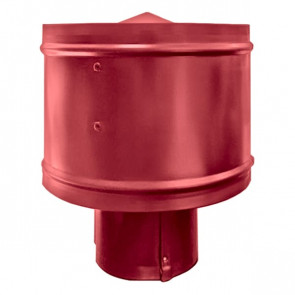 Зонт с ветрозащитой (дефлектором) на круглую трубу RAL 3003 (рубиново-красный) D=100-500