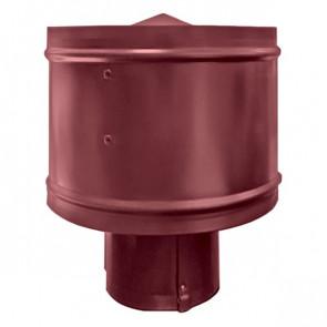 Зонт с ветрозащитой (дефлектором) на круглую трубу RAL 3005 (винно-красный) D=100-500