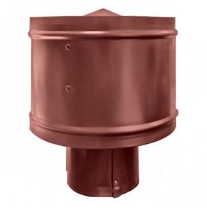 Зонт с ветрозащитой (дефлектором) на круглую трубу RAL 3009 (красная окись) D=100-500