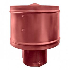 Зонт с ветрозащитой (дефлектором) на круглую трубу RAL 3011 (коричнево-красный) D=100-500
