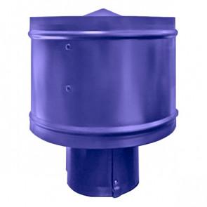 Зонт с ветрозащитой (дефлектором) на круглую трубу RAL 5002 (ультрамарин) D=100-500