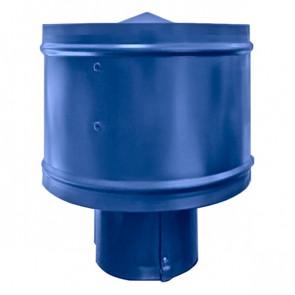 Зонт с ветрозащитой (дефлектором) на круглую трубу RAL 5005 (сигнальный синий) D=100-500