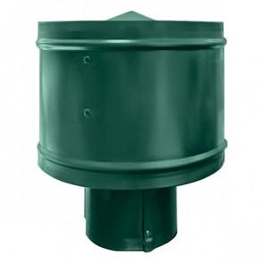 Зонт с ветрозащитой (дефлектором) на круглую трубу RAL 6005 (зеленый мох) D=100-500