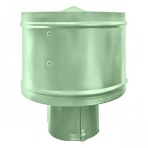Зонт с ветрозащитой (дефлектором) на круглую трубу RAL 6019 (бело-зеленый) D=100-500