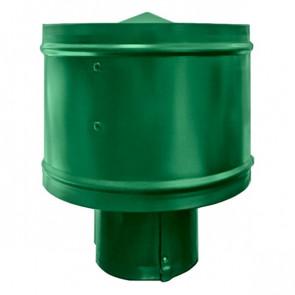 Зонт с ветрозащитой (дефлектором) на круглую трубу RAL 6029 (мятно-зеленый) D=100-500