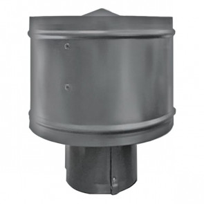 Зонт с ветрозащитой (дефлектором) на круглую трубу RAL 7004 (сигнальный серый) D=100-500