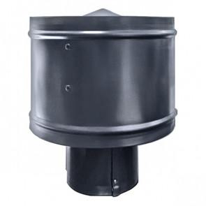 Зонт с ветрозащитой (дефлектором) на круглую трубу RAL 7024 (графитовый серый) D=100-500