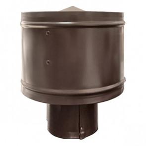 Зонт с ветрозащитой (дефлектором) на круглую трубу RAL 8017 (шоколадно-коричневый) D=100-500