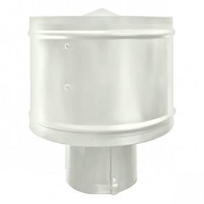 Зонт с ветрозащитой (дефлектором) на круглую трубу RAL 9002 (серо-белый) D=100-500