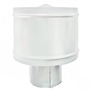 Зонт с ветрозащитой (дефлектором) на круглую трубу RAL 9003 (сигнальный белый) D=100-500