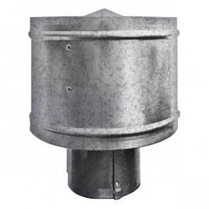 Зонт с ветрозащитой (дефлектором) на круглую трубу ZN (оцинкованная сталь) D=100-500