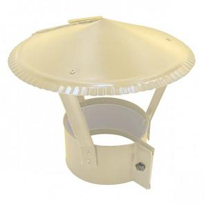 Зонт на круглую трубу RAL 1014 (слоновая кость) D=100-500