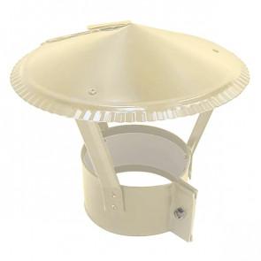 Зонт на круглую трубу RAL 1015 (слоновая кость светлая) D=100-500