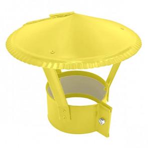 Зонт на круглую трубу RAL 1018 (цинково-желтый) D=100-500
