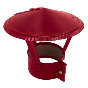 Зонт на круглую трубу RAL 3003 (рубиново-красный) D=100-500
