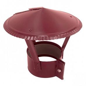 Зонт на круглую трубу RAL 3005 (винно-красный) D=100-500