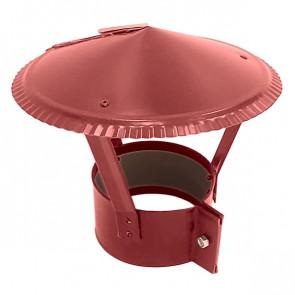 Зонт на круглую трубу RAL 3011 (коричнево-красный) D=100-500