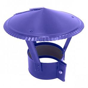 Зонт на круглую трубу RAL 5002 (ультрамарин) D=100-500