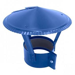 Зонт на круглую трубу RAL 5005 (сигнальный синий) D=100-500