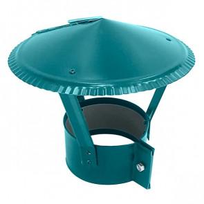 Зонт на круглую трубу RAL 5021 (водная синь) D=100-500