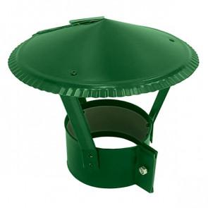 Зонт на круглую трубу RAL 6002 (лиственно-зеленый) D=100-500