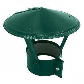 Зонт на круглую трубу RAL 6005 (зеленый мох) D=100-500