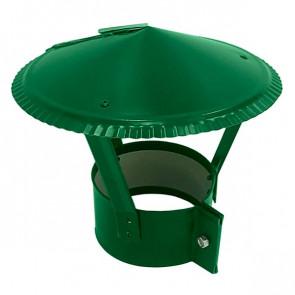 Зонт на круглую трубу RAL 6029 (мятно-зеленый) D=100-500