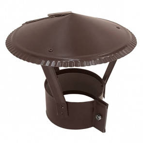Зонт на круглую трубу RAL 8017 (шоколадно-коричневый) D=100-500