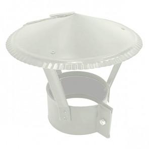 Зонт на круглую трубу RAL 9002 (серо-белый) D=100-500