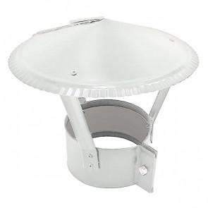 Зонт на круглую трубу RAL 9003 (сигнальный белый) D=100-500