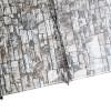 """Металлосайдинг """"Эльбрус"""" в пленке (264/240) 0,5 ECOSTEEL белый камень"""